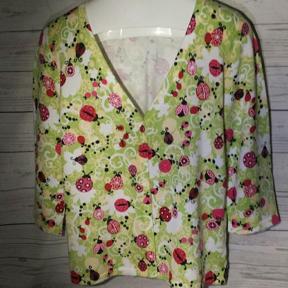 Christopher & Banks Sweaters - Sweater like new Ladybugs Christopher & Banks